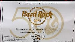 Hard Rock Cafe 2009 Gold Label Barbie Doll with Collector Pin 50th anniversary