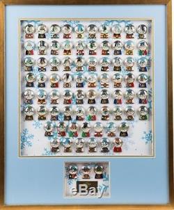 Hard Rock Cafe 2015 HOLIDAY SNOWGLOBES 73 PINS + 3 Prototypes Framed Set LE 15