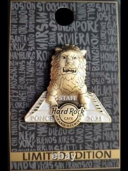 Hard Rock Cafe 2020 Ponce Grand Opening Staff Pin -team Lion Version -limited