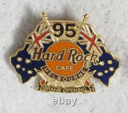 Hard Rock Cafe 95 Melbourne Grand Opening + Opening Staff Pin Set (2)
