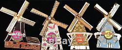 Hard Rock Cafe AMSTERDAM 2002 WINDMILL 4 PINS BOX Spring Summer Autumn & Winter