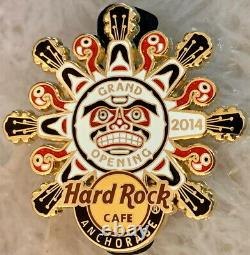 Hard Rock Cafe ANCHORAGE 2014 GRAND OPENING GO PIN Guitar Heads Face HRC #78305