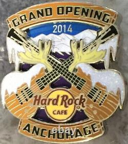 Hard Rock Cafe ANCHORAGE 2014 GRAND OPENING GO PIN Snow Covered Xd Guitars 79177