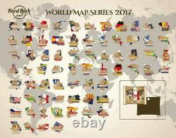 Hard Rock Cafe ANCHORAGE 2017 3-D WORLD MAP Series PIN New on Card LE 100 #95295