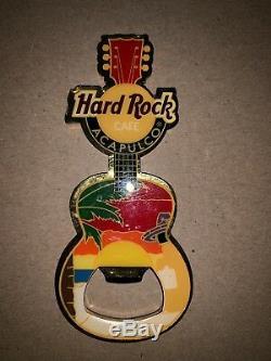 Hard Rock Cafe Acapulco Mexico Guitar Bottle Opener Magnet