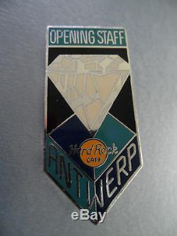 Hard Rock Cafe Antwerp 1995 Grand Opening Diamond Staff Member Pin # 12067