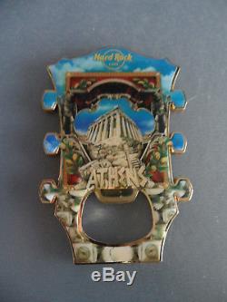 Hard Rock Cafe Athens Acropolis Temple Guitar Head Logo Magnet Bottle Opener