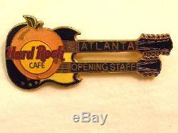 Hard Rock Cafe Atlanta GO STAFF DN Guitar'92 Pin