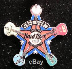 Hard Rock Cafe Austin Grand Opening Party Prototype STAFF Sheriff Badge Pin LE