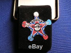 Hard Rock Cafe Austin Grand Opening Party Prototype Sheriff Star Badge Pin LE