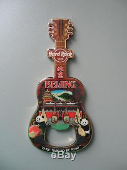 Hard Rock Cafe BEIJING City Tee Design Guitar & Logo Magnet Bottle Opener 1