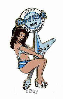 Hard Rock Cafe BELO HORIZONTE Lap Dancer Series Sexy Girl pin CLOSED CAFE
