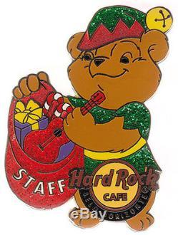 Hard Rock Cafe BELO HORIZONTE Xmas Bear STAFF pin