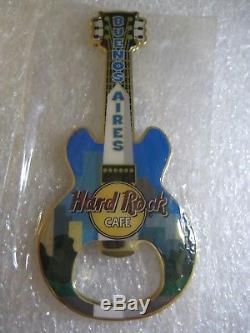 Hard Rock Cafe BUENOS AIRES Magnet Bottle Opener Guitar RARE