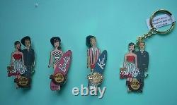 Hard Rock Cafe Barbie & Ken Pins & Key Chain Set2011 Spring Break Convention