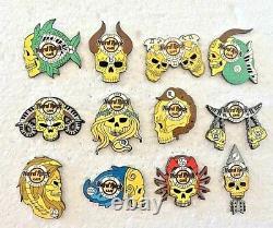 Hard Rock Cafe Brussels Skull Zodiac Complete Set (12 pins)