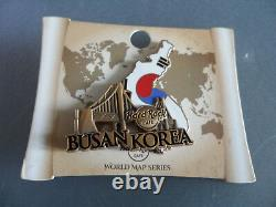 Hard Rock Cafe Busan Korea World Map Country Shape Flag Pin (Closed Cafe)