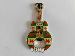 Hard Rock Cafe CARDIFF Wales Dragon Gibson Guitar Magnet Bottle Opener