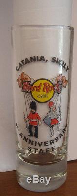 Hard Rock Cafe CATANIA 1st Anniversary Shot Glass CLOSED CAFE