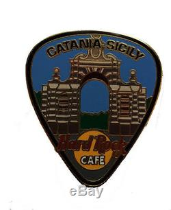 Hard Rock Cafe CATANIA Pick Guitar Series pin CLOSED CAFE