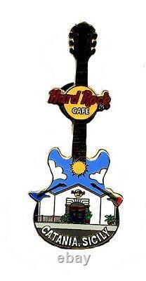 Hard Rock Cafe CATANIA SICILY Facade Series Guitar pin RARE