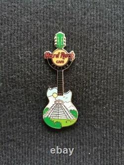 Hard Rock Cafe Cancun Pyramid Chichen Itza Guitar Pin