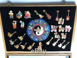 Hard Rock Cafe'Chinese Zodiac Puzzle Pin' Display plus 26 other pins