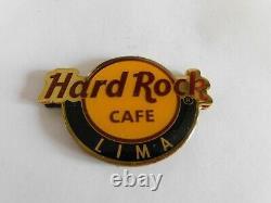 Hard Rock Cafe Classic Round City Logo Magnet (not bottle opener) LIMA
