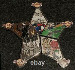 Hard Rock Cafe DALLAS 2009 TEXAS Star PUZZLE PIN SET