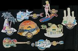 Hard Rock Cafe Destin Pin Set (8 Pins Grand Opening & Closing) FREE SHIPPING