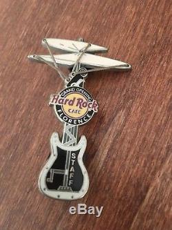 Hard Rock Cafe Florence Grand Opening Leonardo Da Vinci Helicopter STAFF Pin