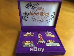 Hard Rock Cafe Golden Jubilee 2002 5 Pin Set Signed by Rita