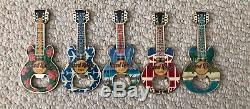 Hard Rock Cafe Guitar Bottle Openers Final Lot of Five Three closed! Rare