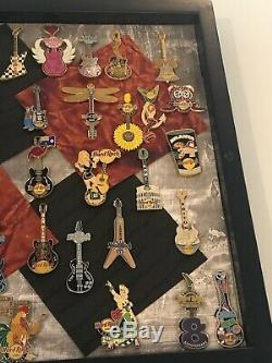 Hard Rock Cafe Guitar pins lot 40 pins (see details)
