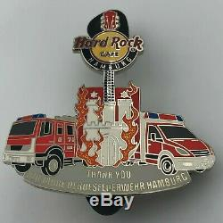 Hard Rock Cafe HAMBURG 140 Years Fire Brigade Pin very rare