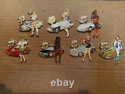 Hard Rock Cafe HRC 2006 New York Decade Girls withCars 7 Pins LE 500 Rare & HTF