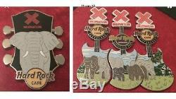 Hard Rock Cafe HRC AZA Elephant Lapel Pin Set Complete Series Elefanten 43 Pins
