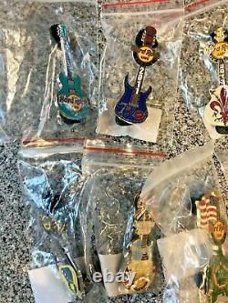 Hard Rock Cafe HRC Classic Guitars Various Locations 12 pin LOT LA/MA/MD/PA/FL