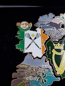 Hard Rock Cafe HRC Ireland-Dublin Map of Ireland pin set 2018