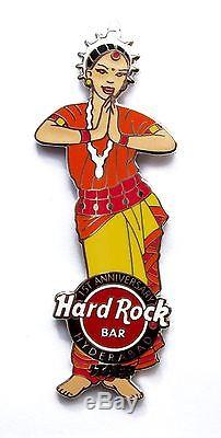 Hard Rock Cafe HYDERABAD BAR 1st Anniversary STAFF Manager Girl pin CLOSED