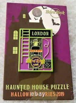 Hard Rock Cafe Halloween Series Haunted House Puzzle Complete 12 Pin Set