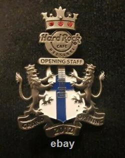 Hard Rock Cafe Helsinki- 3D Grand Opening STAFF Pin 2012- LE 120