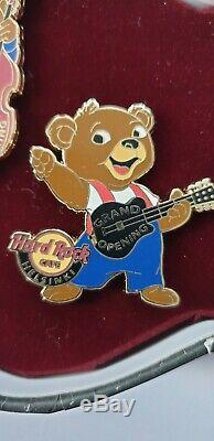 Hard Rock Cafe Helsinki Grand Opening Vip 3 Bear Pin Set Le 200