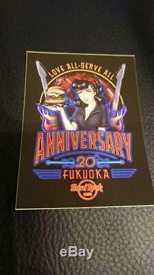 Hard Rock Cafe Japan Fukuoka Hello Kitty pin 4 types set Not for sale stickers