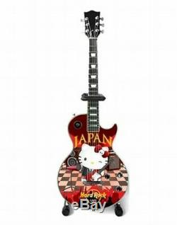 Hard Rock Cafe Japan x Hello Kitty Miniature Guitar 2018 Limited Sanrio with Stand