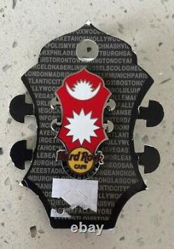 Hard Rock Cafe Kathmandu Headstock Flag Series Pin Le New With Card Nepal 2021