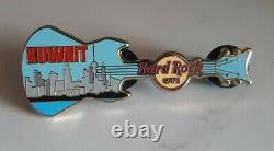Hard Rock Cafe Kuwait Skyline Guitar Pin Very Hard To Find Mint Condition