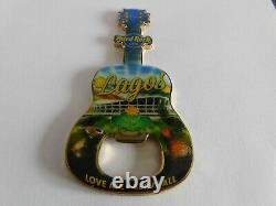 Hard Rock Cafe LAGOS Nigeria SOLD OUT Guitar with Logo Magnet Bottle Opener