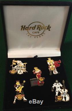 Hard Rock Cafe LAS VEGAS 2014 Royal Flush COMIC Themed 5 PIN Box Set HRC #78626