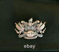 Hard Rock Cafe LONDON 2013 STAFF (Only) 3d 42nd ANNIVERSARY Pin Badge LE200